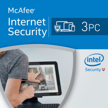 McAfee Internet Security 2017 3 PC licencja na rok