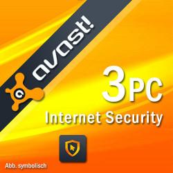 AVAST INTERNET SECURITY 2018 3 PC /2 Lata