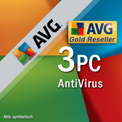 AVG Antivirus PL 2019 3 PC/ 1 ROK