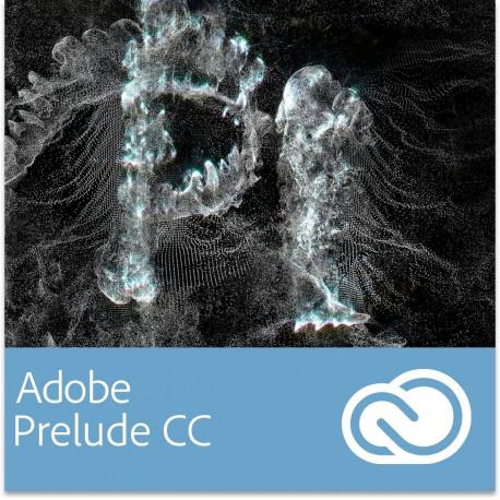 Adobe Prelude CC GOV dla Multi European Languages Win/Mac - Subskrypcja (12 m-ce)