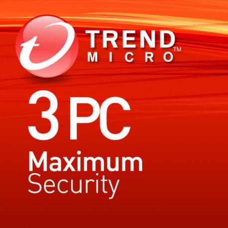 Trend Micro Maximum Security 3 PC 1 Rok