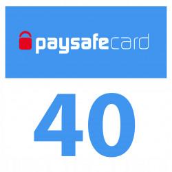 PaySafeCard 40 zł ( 20 + 20 ) PSC