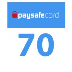 PaySafeCard 70 zł ( 50 + 20 ) PSC