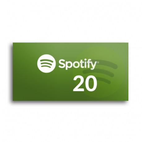 Kod podarunkowy Spotify 20zł