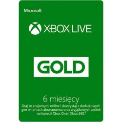 Microsoft Xbox Live Gold 6 miesięcy