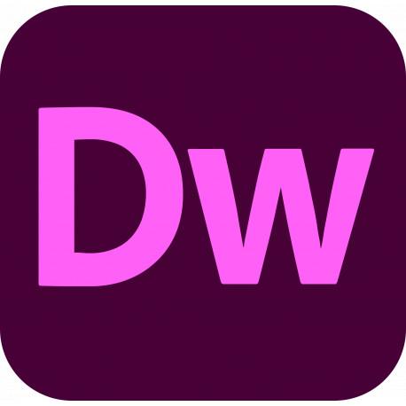 Adobe Dreamweaver CC for Teams (2021) ENG Win/Mac – dodatkowe stanowisko – licencja imienna dla instytucji EDU
