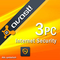 AVAST INTERNET SECURITY 2018 3 PC /2 Lata
